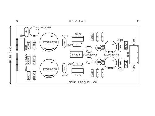 Regulator power supply board LF353+L7815/L7915 Dual AC 12V