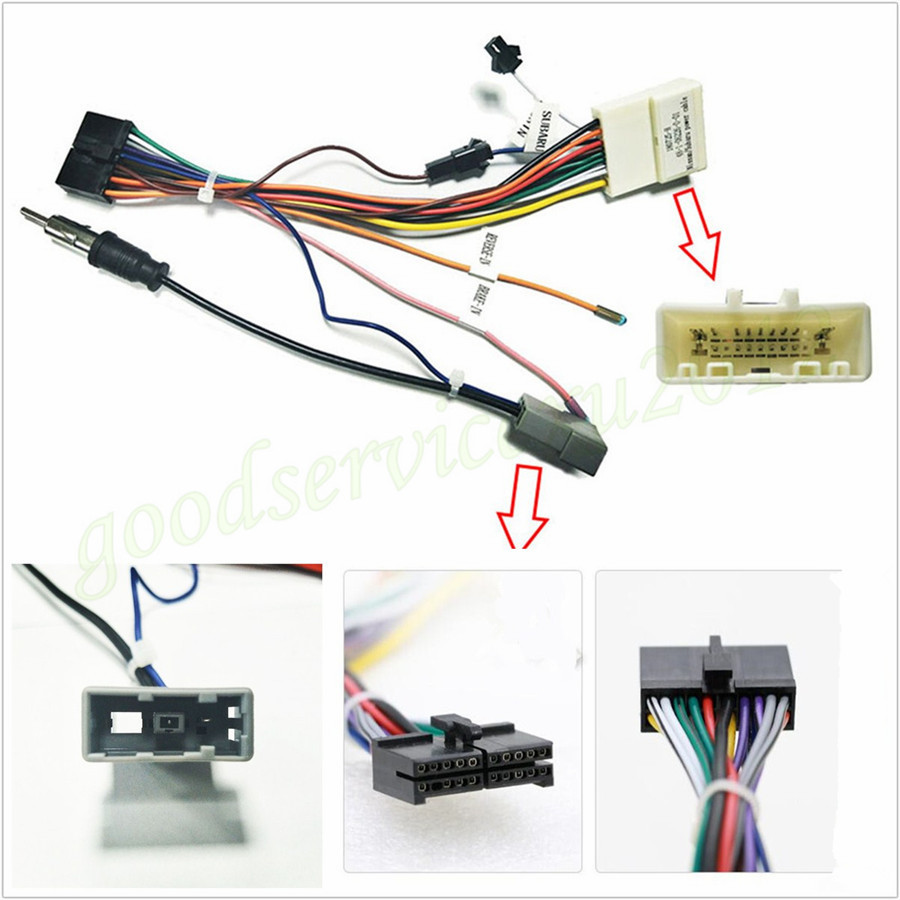 medium resolution of details about 1 x car suv 20pin stereo wiring harness connector adapter power cable for nissan