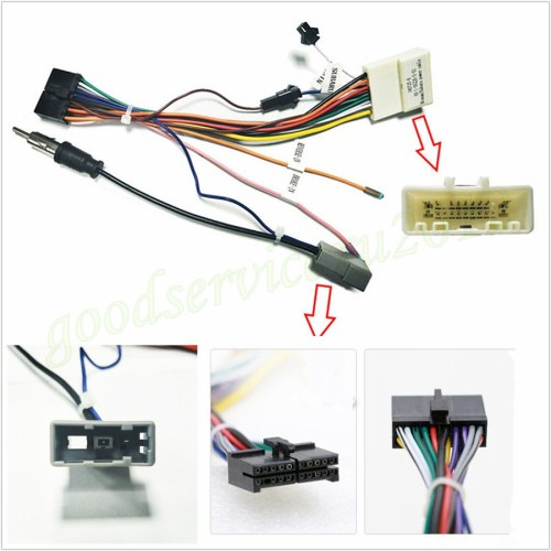 small resolution of details about 1 x car suv 20pin stereo wiring harness connector adapter power cable for nissan