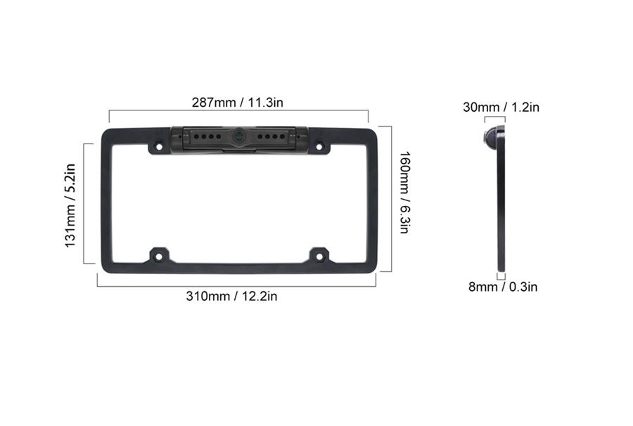WiFi Wireless Car License Plate Rear View Reverse Backup