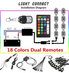8pcs ip68 waterproof remote control rgb led rock lights they are in good condition with the adoption of solid plastic material and delicate workmanship  [ 900 x 900 Pixel ]
