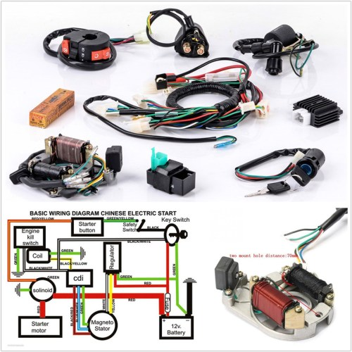 small resolution of details about profession motorcycle cdi wire harness stator wiring kit for 5pins electric quad