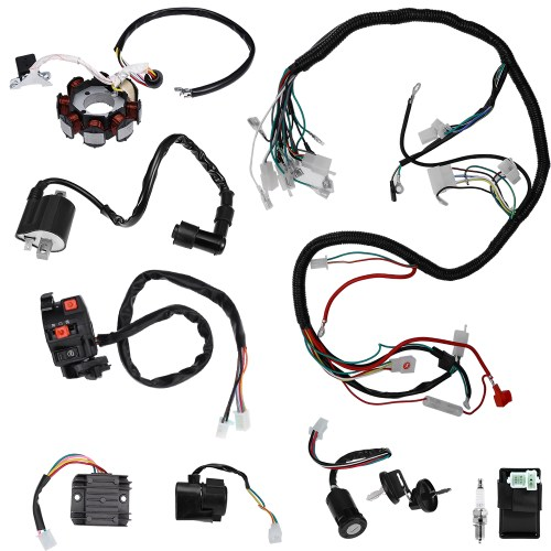 small resolution of details about complete electrics wiring harness for atv quad 150 200 250 300cc kawasaki stator