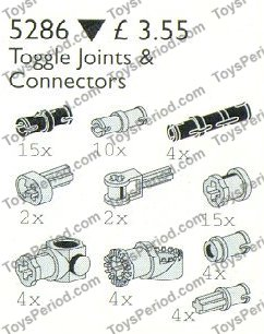 LEGO 5286 Toggle Joints and Connectors Set Parts Inventory