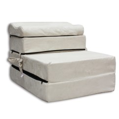 Folding Chair Mattress Foam Reupholstery Cost Z Bed Fold Out Sofa Sleep Over Ebay
