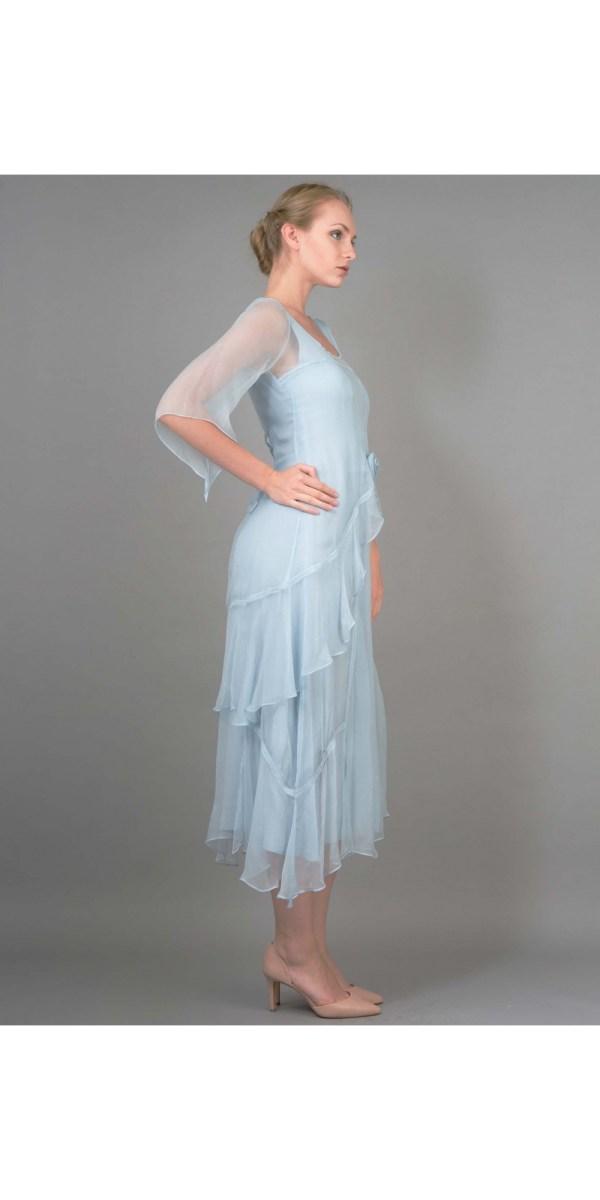 Layered Nataya Dress Al-10709 In Blue