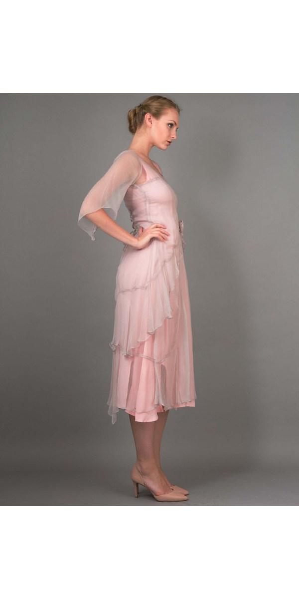 Layered Nataya Dress Al-10709 In Rose