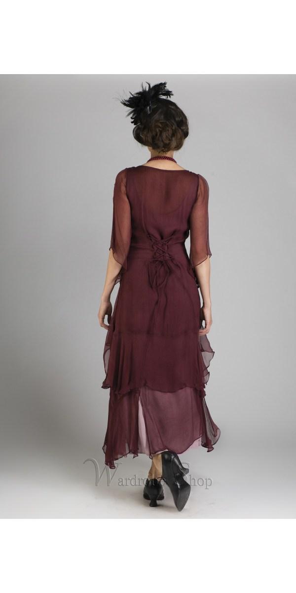 Great Gatsby Party Dress In Garnet Nataya