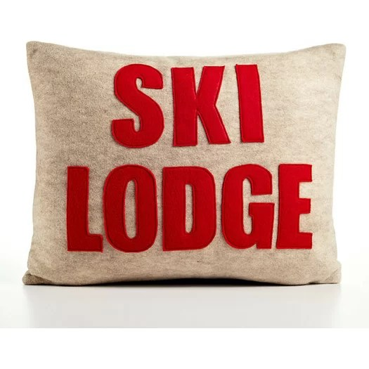 Alexandra Ferguson Weekend Getaway Ski Lodge Felt Throw