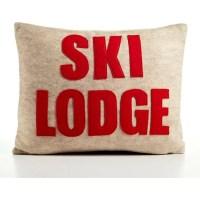Alexandra Ferguson Weekend Getaway Ski Lodge Felt Throw ...