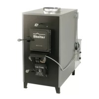 Shelter 100,000 BTU Indoor Wood Coal Burning Forced Air