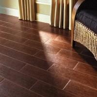 "Colonial Wood 20"" x 6"" Ceramic Floor Tile in Mahogany ..."