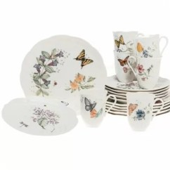 Pictures Of Contemporary Living Rooms Decorated Beige And Blue Room Lenox Butterfly Meadow 18 Piece Dinnerware Set & Reviews ...