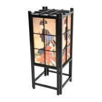 "Oriental Furniture Window Pane Shoji 18"" H Table Lamp with ..."