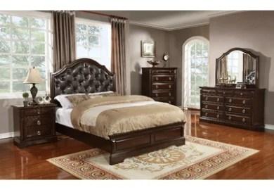 Aleydis Panel Bedroom Set Brown King And Queen Panel Bed