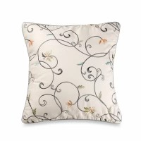 Laura Ashley Home Berkley Embroidered Decorative Pillow ...