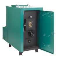 140,000 BTU Outdoor Wood Coal Burning Forced Air Furnace