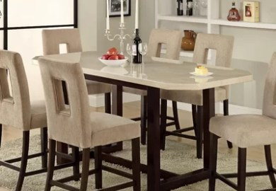 Counter Height Dining Table With Bench