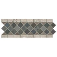 "Slate Diamond Listello 12"" x 4"" Tile Accent | Wayfair"