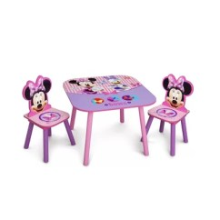 Minnie Mouse Table And Chair Set Canada Correct Posture Kneeling Delta Children Kid's 3 Piece & Reviews | Wayfair