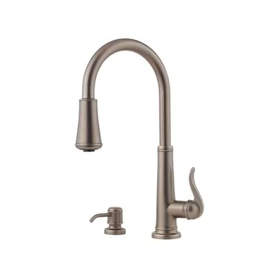 price pfister kitchen faucet pull out Pfister Ashfield Single Handles Widespread Kitchen Faucet with Soap Dispenser & Reviews | Wayfair