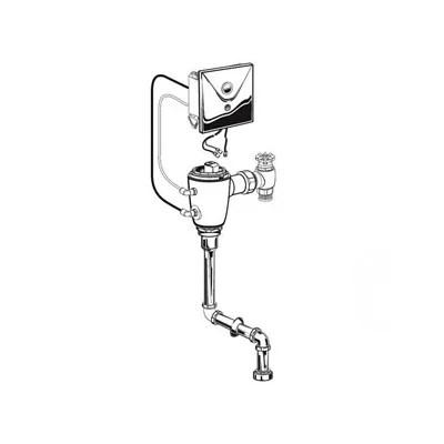 Lloyd ADA Compliant Urinal with Electronic Flush Valve