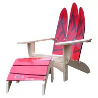 Water Ski Adirondack Chair and Ottoman | Wayfair