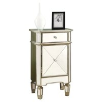Monarch Specialties Inc. Mirrored Accent Cabinet & Reviews ...