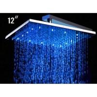 "Alfi Brand 12"" Square LED Rain Shower Head & Reviews   Wayfair"
