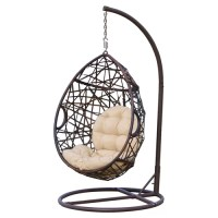 Home Loft Concept Stamford Wicker Tear Drop Swinging Chair ...