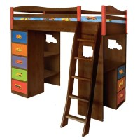 Boys Like Trucks Twin Bunk Bed with Desk and Storage | Wayfair