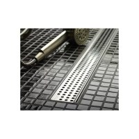 "QuARTz by ACO 46.7"" Square Bathroom Linear Shower Drain ..."