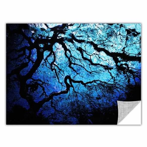 Art Wall 'Japanese Maple Tree' by John Black 3 Piece