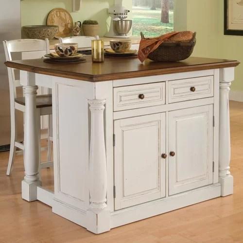 Home Styles Monarch Piece Kitchen Island Set