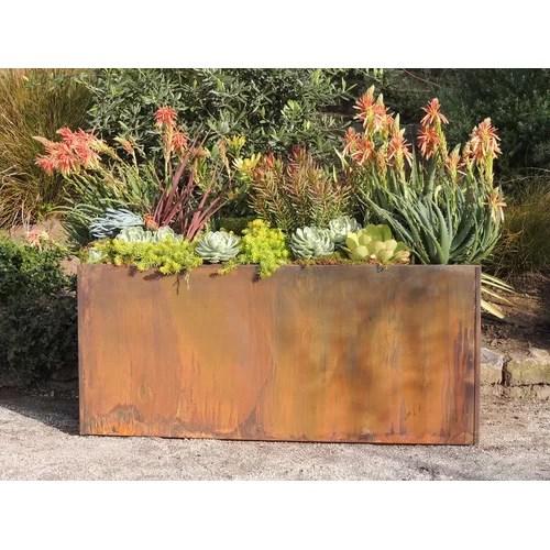 Nice Planter Corten Steel Rectangular Planter & Reviews
