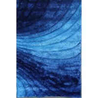Rug Factory Plus Shaggy 3D Blue Area Rug & Reviews | Wayfair