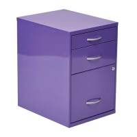 OSP Designs 3-Drawer Metal File Cabinet & Reviews | Wayfair