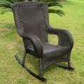 Caravan san tropez wicker resin aluminum high back patio rocking chair