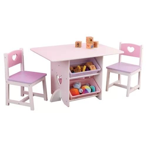 KidKraft Heart Kids 7 Piece Table and Chair Set  Reviews