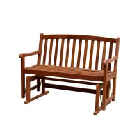 Atlantic Outdoor Glider Wood Garden Bench & Reviews