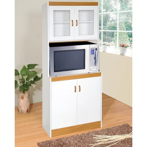 Hazelwood Home Florence Microwave Cart  Reviews  Wayfair