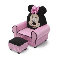 Delta Children Minnie Mouse Kids Club Chair and Ottoman ...