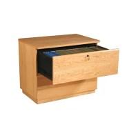 Rush Furniture Modular Real Oak Wood Veneer 2-Drawer File ...