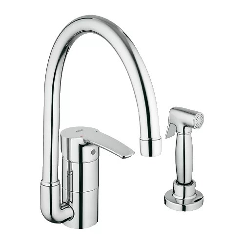 single hole kitchen faucet with side spray Grohe Eurostyle Single Handle Single Hole Kitchen Faucet