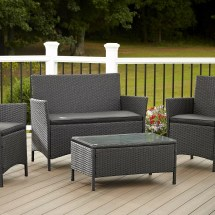 outdoor 4 piece set resin wicker