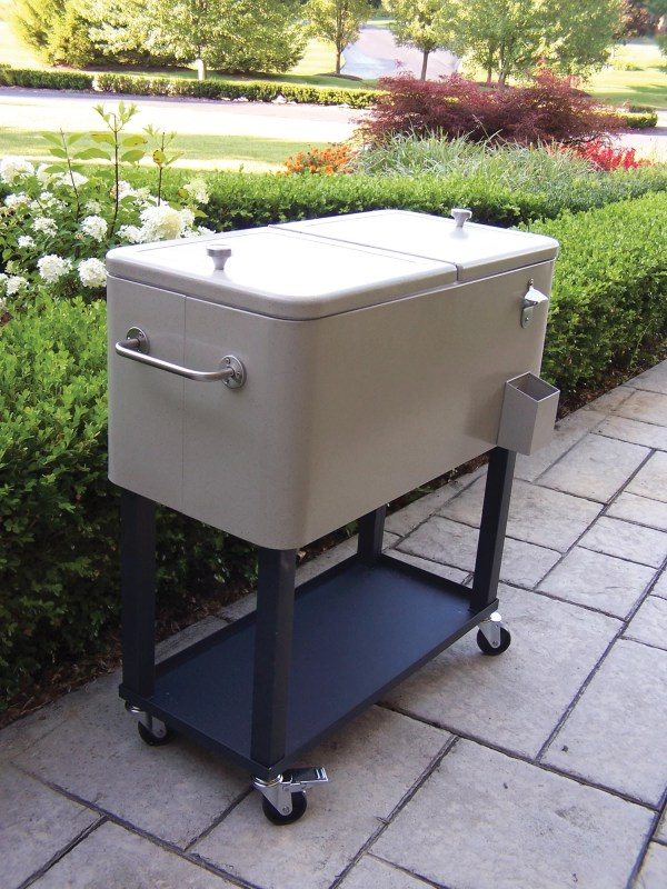 Patio Outdoor Ice Cooler Chest Cart Deck Furniture Coolers
