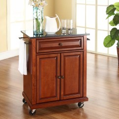 Marble Top Kitchen Cart Roll Out Cabinet Wood Rolling Island Storage Locking Caster