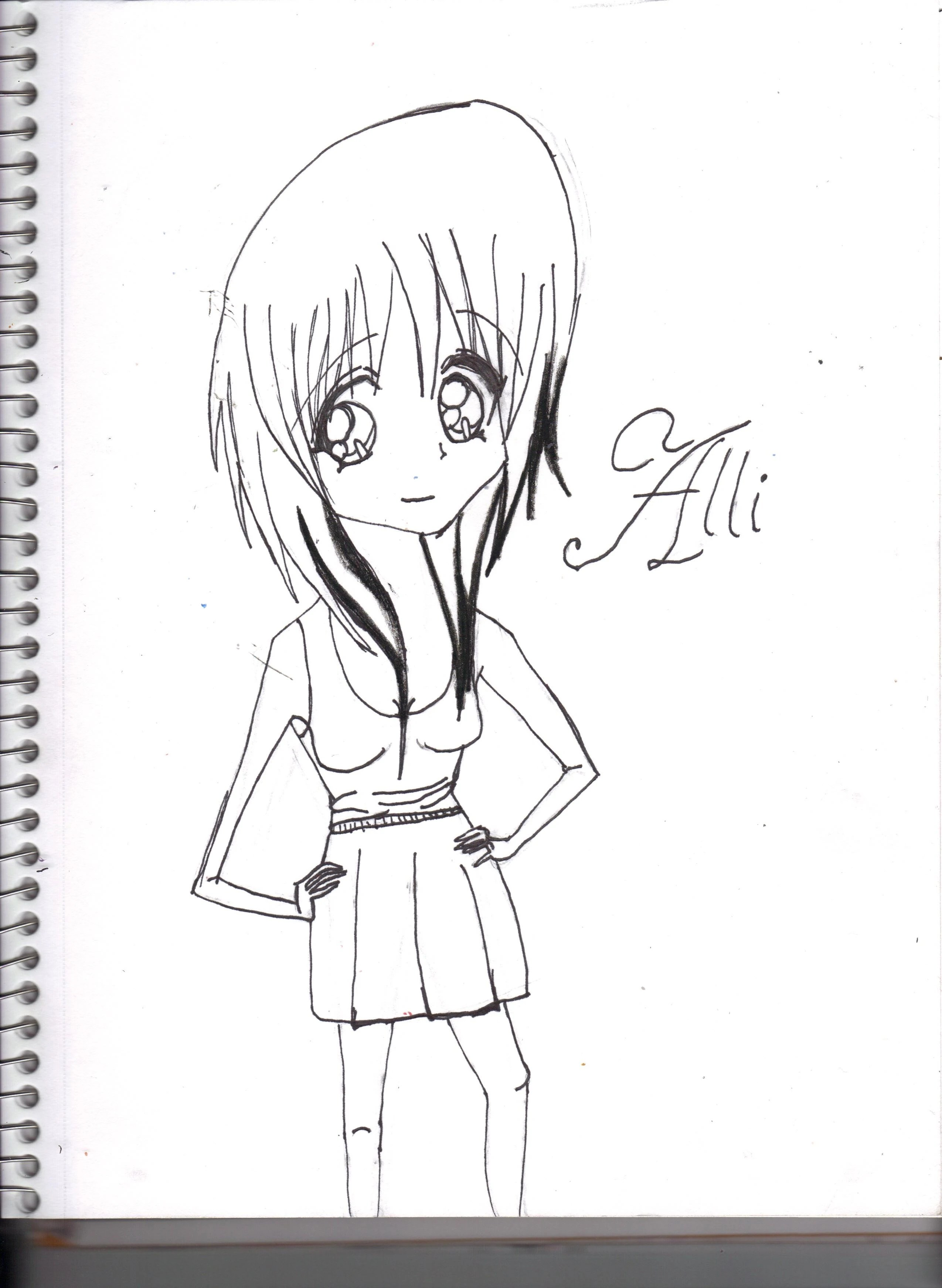 Coloring page of alli