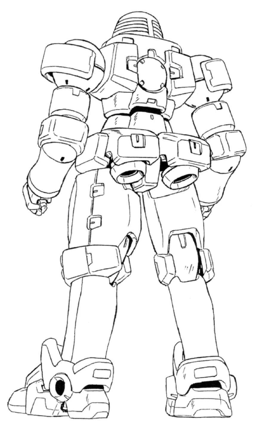 OZ-06MS Leo Back View Lineart