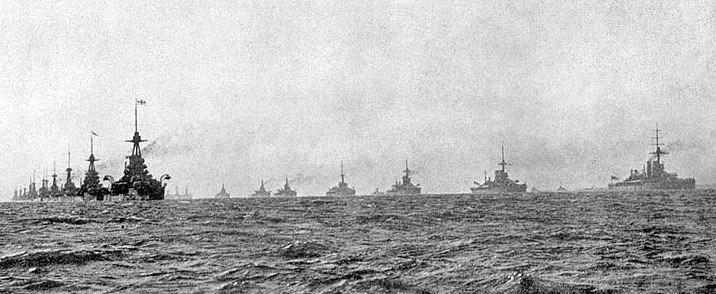 The British Grand Fleet at the Battle of Jutland